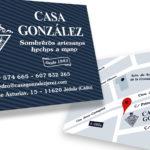 CASA GONZALEZ - Tarjetas