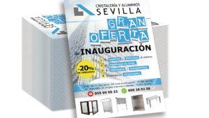 CRISTALERÍA Y ALUMINIOS SEVILLA - Flyer A5