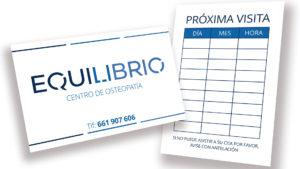 CENTRO DE OSTEOPATÍA EQUILIBRIO - Tarjetas