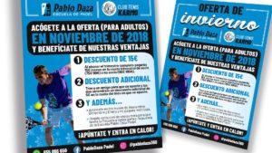 PABLO DAZA PADEL - Cartel Oferta Invierno 2018