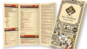 SAL Y PIMIENTA - Carta Tríptico A3-B6