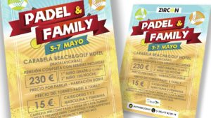 ZIRCON EVENTOS - Cartel Padel & Family