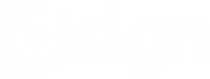 D·SIGN - Logotipo blanco