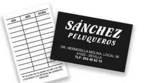 SÁNCHEZ PELUQUEROS - Tarjetas de visita