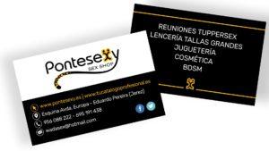 PONTESEXY - Tarjetas de visita