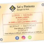 SAL Y PIMIENTA - Placa de Metacrilato