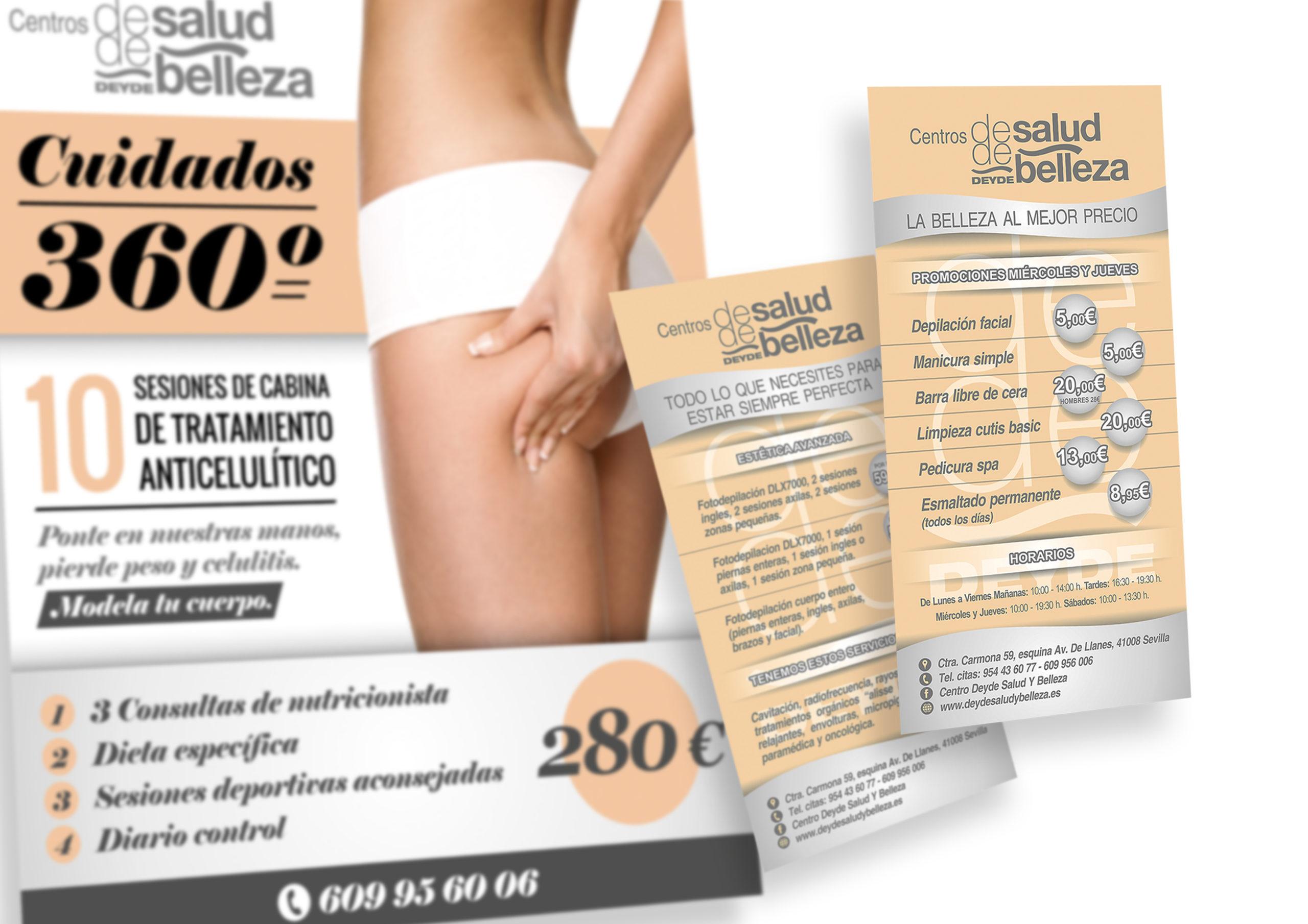 CENTRO DE SALUD Y BELLEZA DEYDE - Flyers B6 y Poster