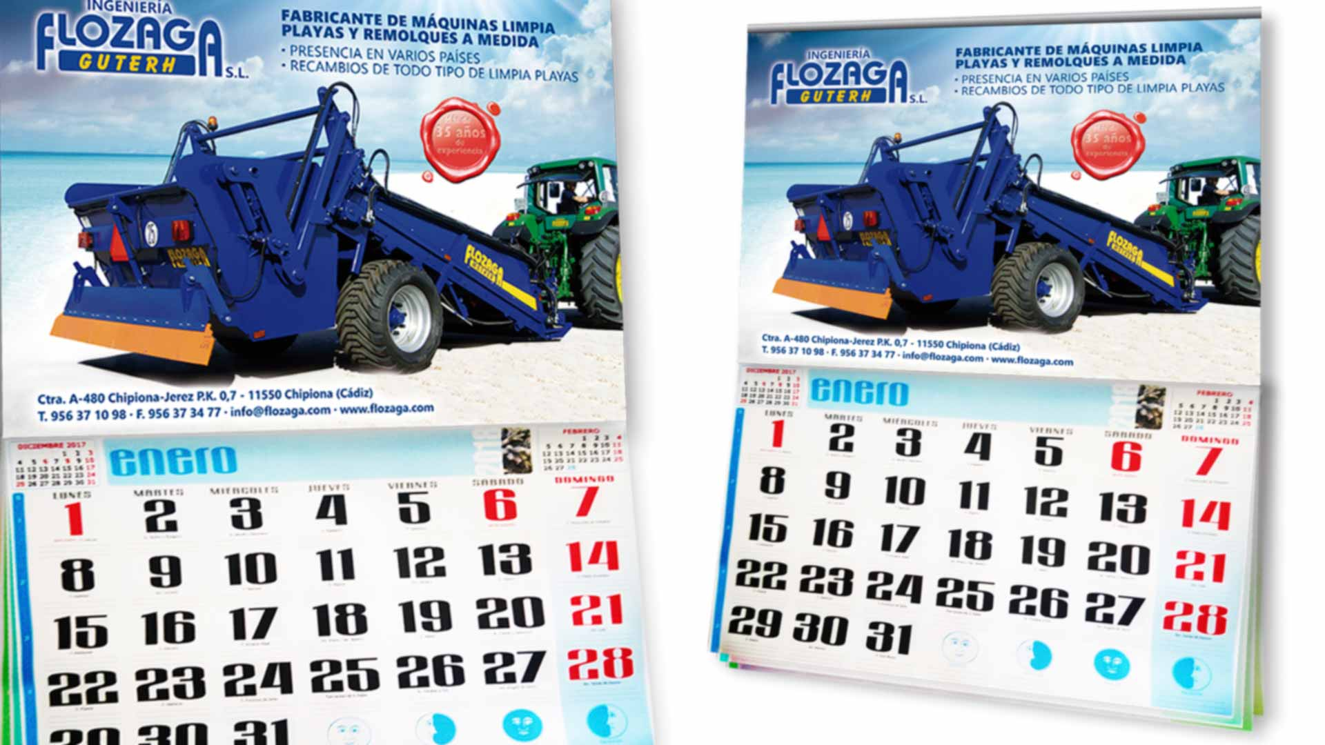 FLOZAGA GUTERH - Calendarios 2018