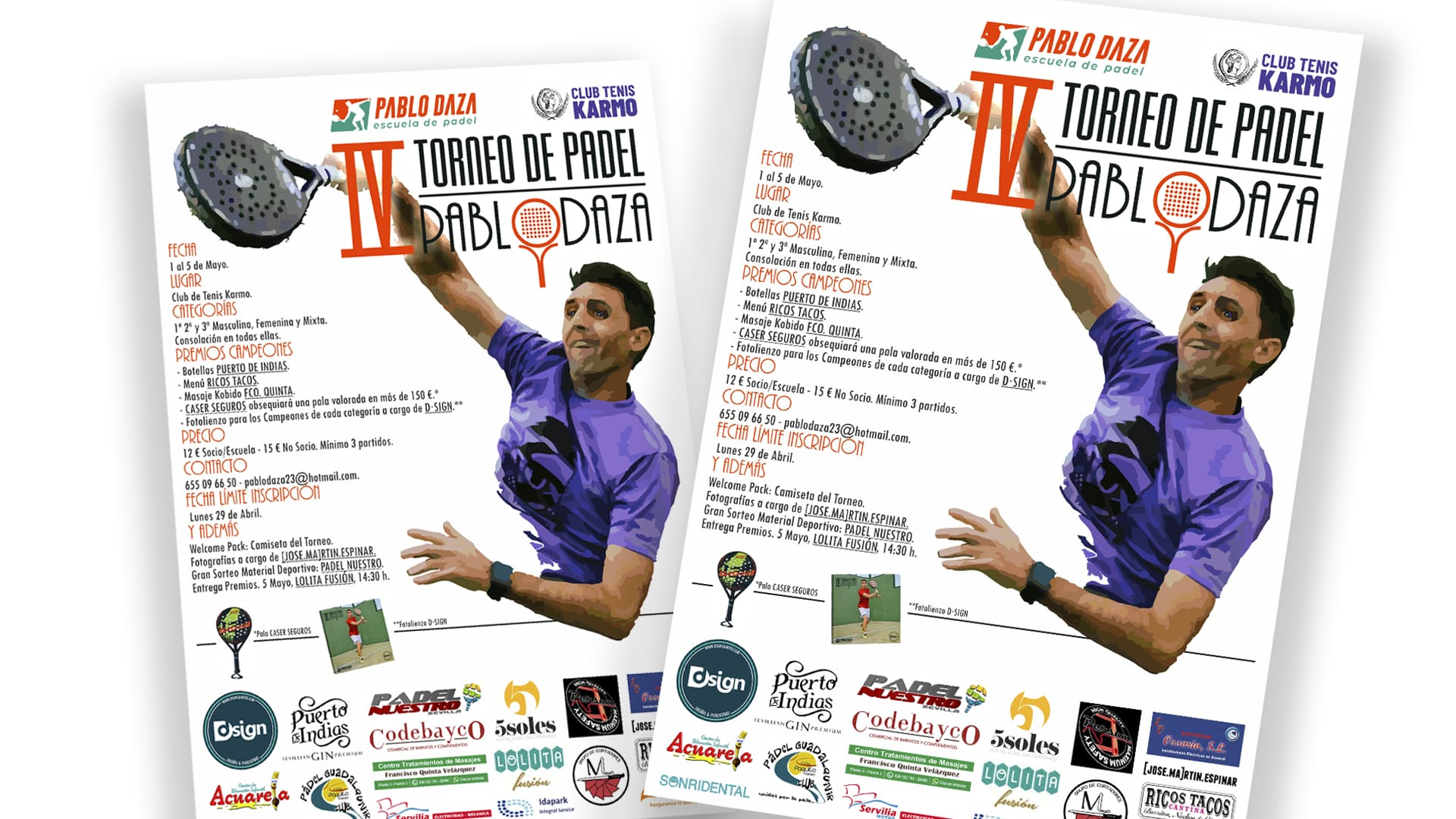 PABLO DAZA - Cartel IV Torneo Pablo Daza