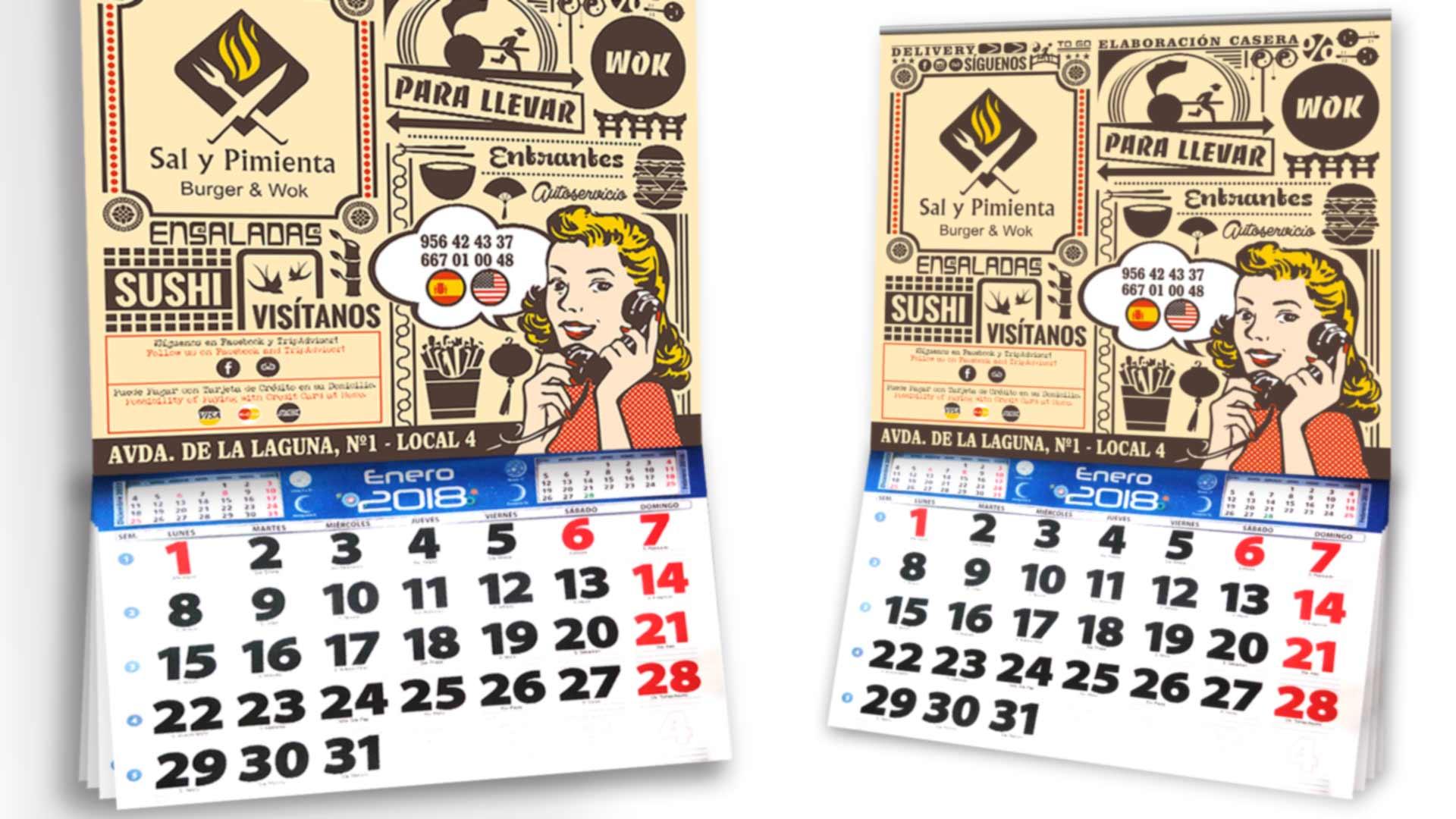 SAL Y PIMIENTA - Calendarios 2018