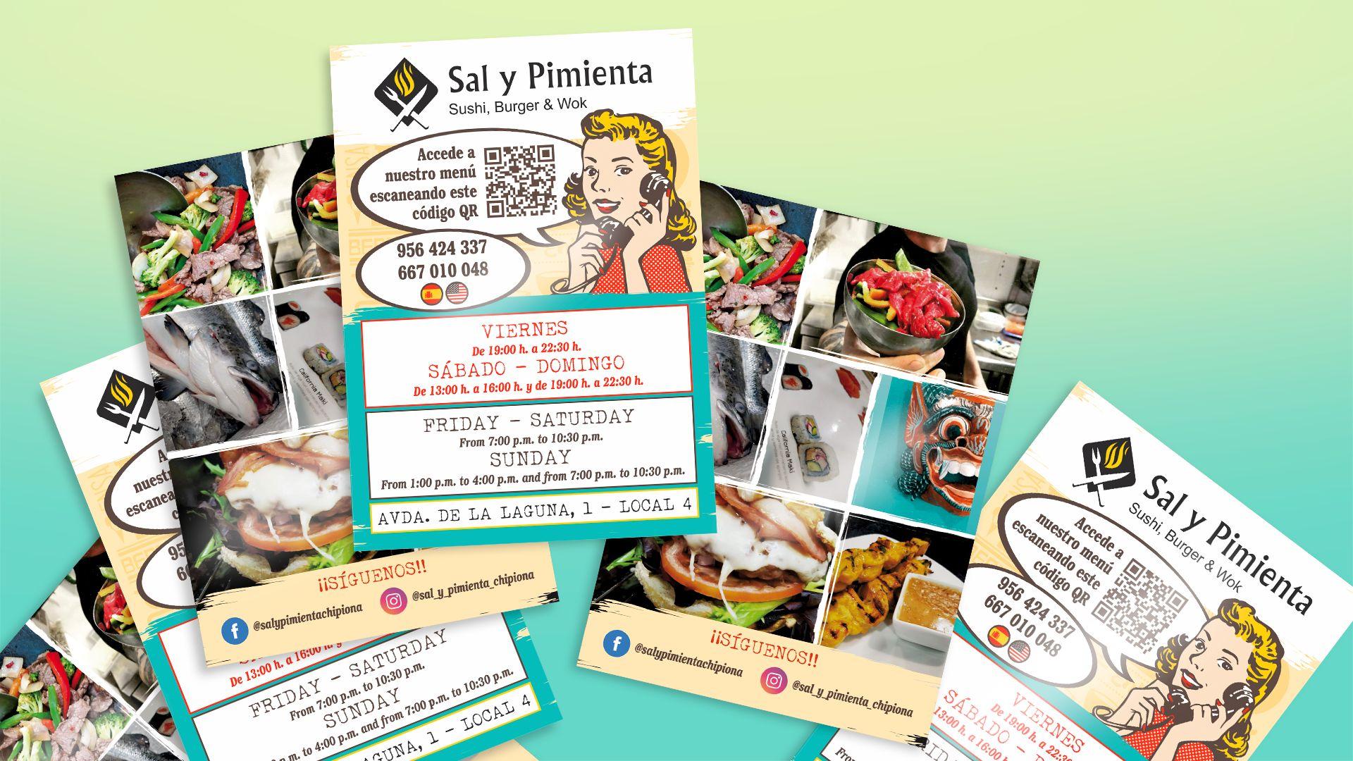 SAL Y PIMIENTA - Flyers A6