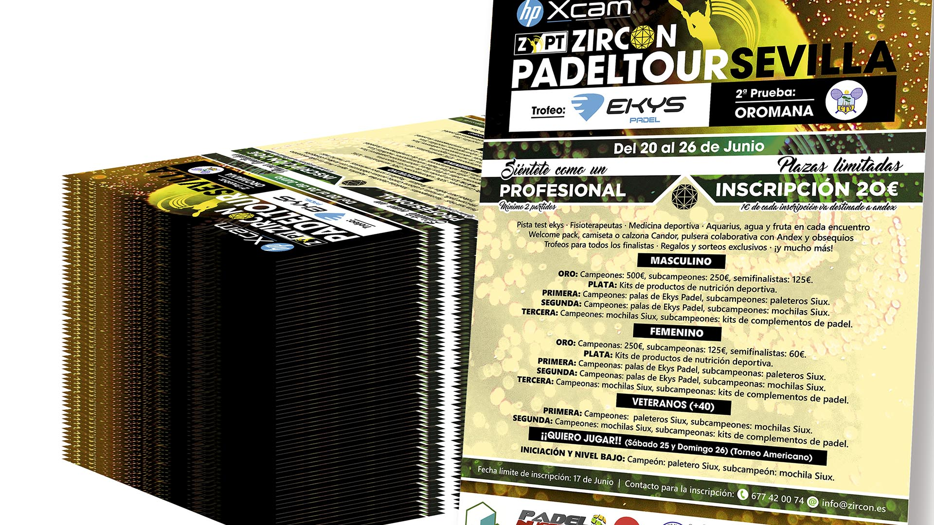 ZIRCON EVENTOS - Cartel Zircon Padel Tour 2