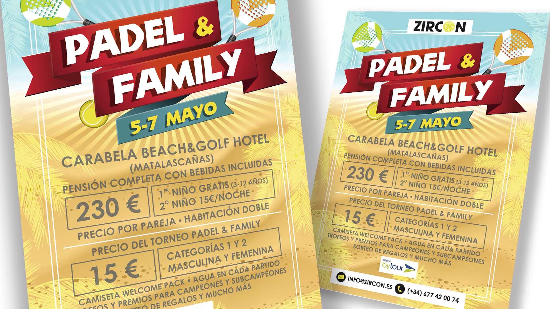 ZIRCON EVENTOS - Cartel Padel & Family