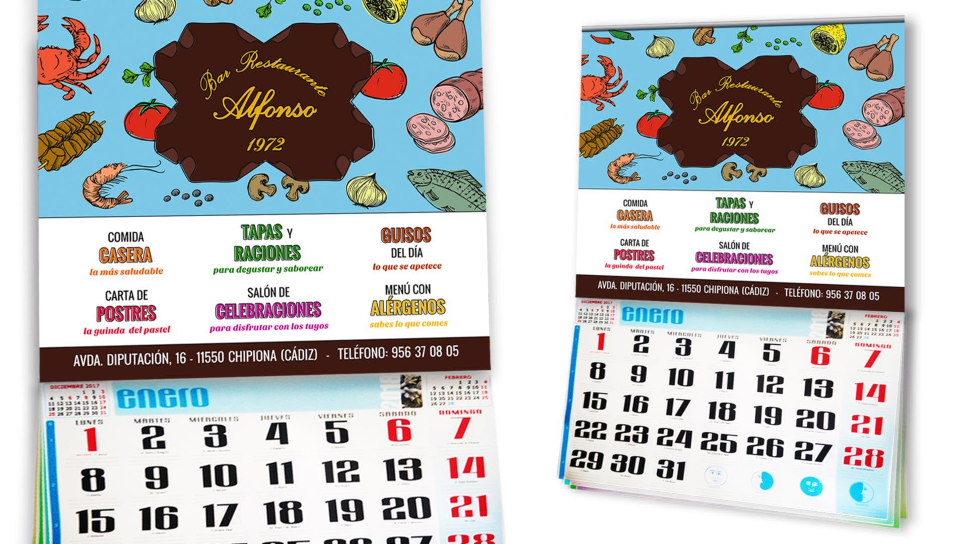BAR ALFONSO - Calendarios 2019