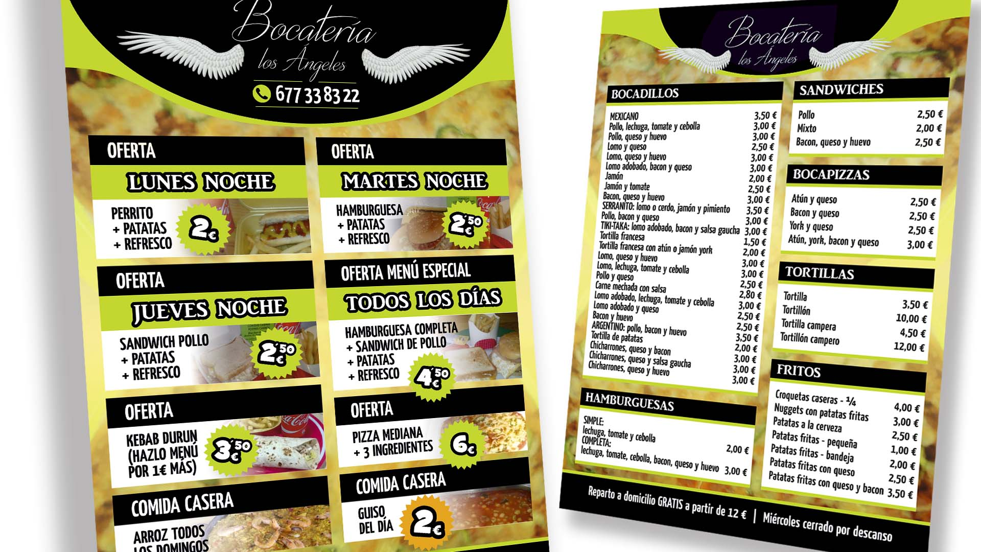 BOCATERÍA LOS ÁNGELES - Flyer A5
