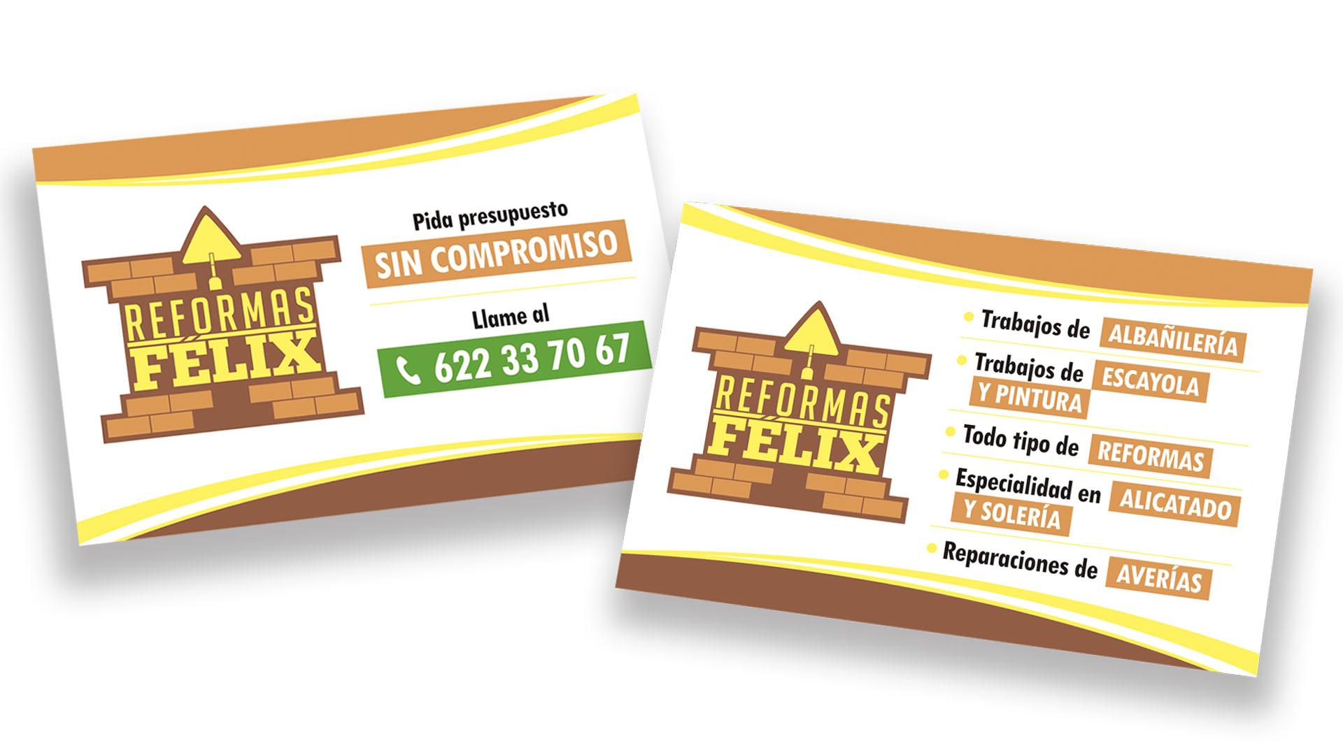 REFORMAS FÉLIX - Tarjeta